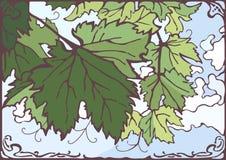 Gronowa wektorowa ręka rysująca liść ilustracja Zdjęcie Royalty Free