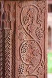 Gronowi cyzelowania przy Fatehpur Sikri pałac w Agra Fotografia Royalty Free