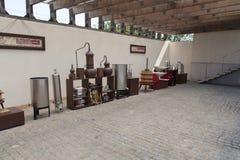 Gronowy żniwo: stary wina spotkanie z prasą wytwórnii win fotografia Shabo, Odessa region, Ukraina, Czerwiec 20, 2017 Zdjęcie Stock