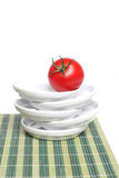 gronowy organicznie czerwony pomidor Zdjęcie Royalty Free