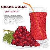 Gronowy owocowy sok Obrazy Stock