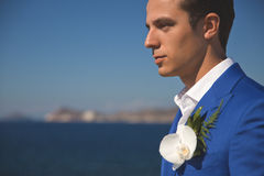 groom красивый стоковая фотография rf