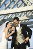 groom невесты выпивая стоковые изображения