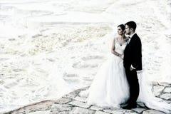 groom невесты напольный стоковое фото