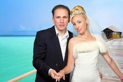 groom невесты пляжа тропический Стоковое Фото