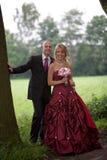 groom невесты счастливый стоковое изображение