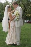 groom невесты счастливый Стоковая Фотография
