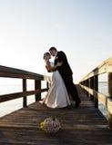 groom танцульки невесты Стоковое фото RF
