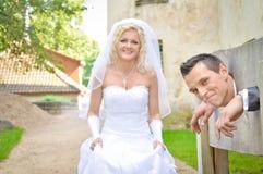 Невеста и Groom Стоковые Изображения