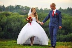 groom невесты счастливый Стоковые Изображения
