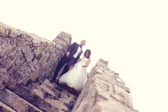Free Groom And Bride Outdoors Royalty Free Stock Image - 57223826
