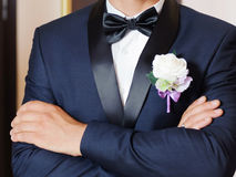 Groom with Atlas Bow Stock Images