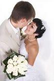 Groom and beautiful bride Stock Image