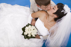 Groom and beautiful bride Stock Images