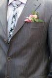 groom boutonniere Стоковая Фотография
