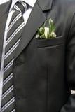 groom boutonniere Стоковые Фотографии RF