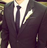 Groom Boutonniere Stock Photography