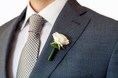 Groom boutonniere royalty free stock images