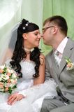 The groom and the bride Royalty Free Stock Photography