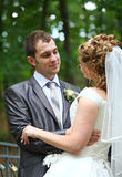 Groom and bride Stock Photography