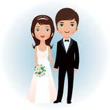 Groom and bride. Bride and groom holding hands Stock Photo