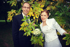 Groom and bride Stock Image