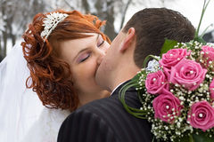 A groom and a bride Stock Image