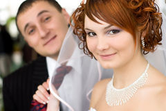 A groom and a bride Stock Photo