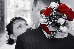A groom and a bride Royalty Free Stock Photography