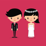 Groom and Bride Characters Royalty Free Stock Image