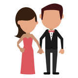 Groom and bride couple. Vector illustration eps 10 Stock Photography