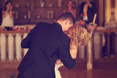 Groom and bride dancing Royalty Free Stock Photography
