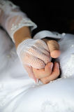 He and she. Groom and bride holding hands Stock Images