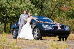 Groom and bride joy Stock Photo