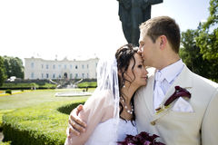 Groom and bride in luxury background Royalty Free Stock Photography