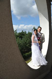 Groom and bride in luxury background Stock Photo