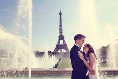 Groom and bride in Paris Stock Photos