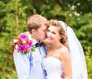 Groom and bride portrait Royalty Free Stock Photography