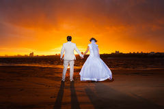 Groom and bride Royalty Free Stock Images