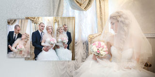 Groom and the bride in their wedding day Stock Image