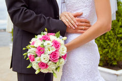 Groom and bride together. Wedding couple. Stock Image