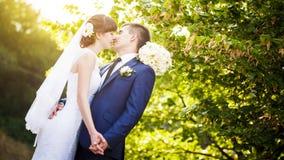Groom bride wedding sunrise Stock Images