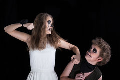Groom and  bride -  zombie Royalty Free Stock Photos