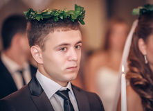 Groom on ceremony of wedding Stock Photography