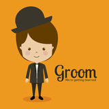 Groom design Royalty Free Stock Photos