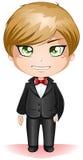 Groom Dressed In Black Suite Royalty Free Stock Image