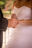 Bride and Groom exchanging rings Stock Image