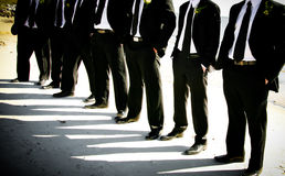 Groom and Groomsmen Stock Photo