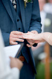 Groom holds the bride. In wedding party Stock Photo