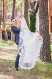 Groom holds his bride Stock Photography